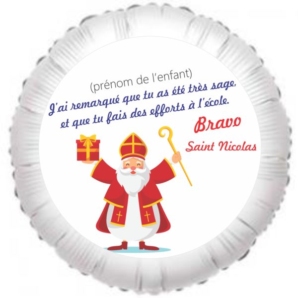 Ballon personnalisable Saint Nicolas